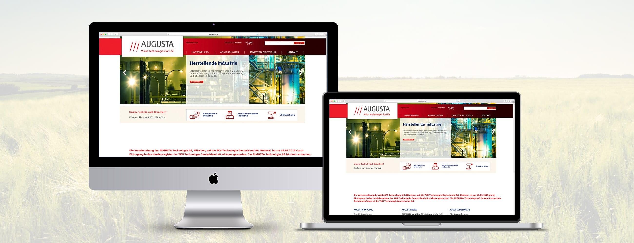 Augusta München Webpräsenz