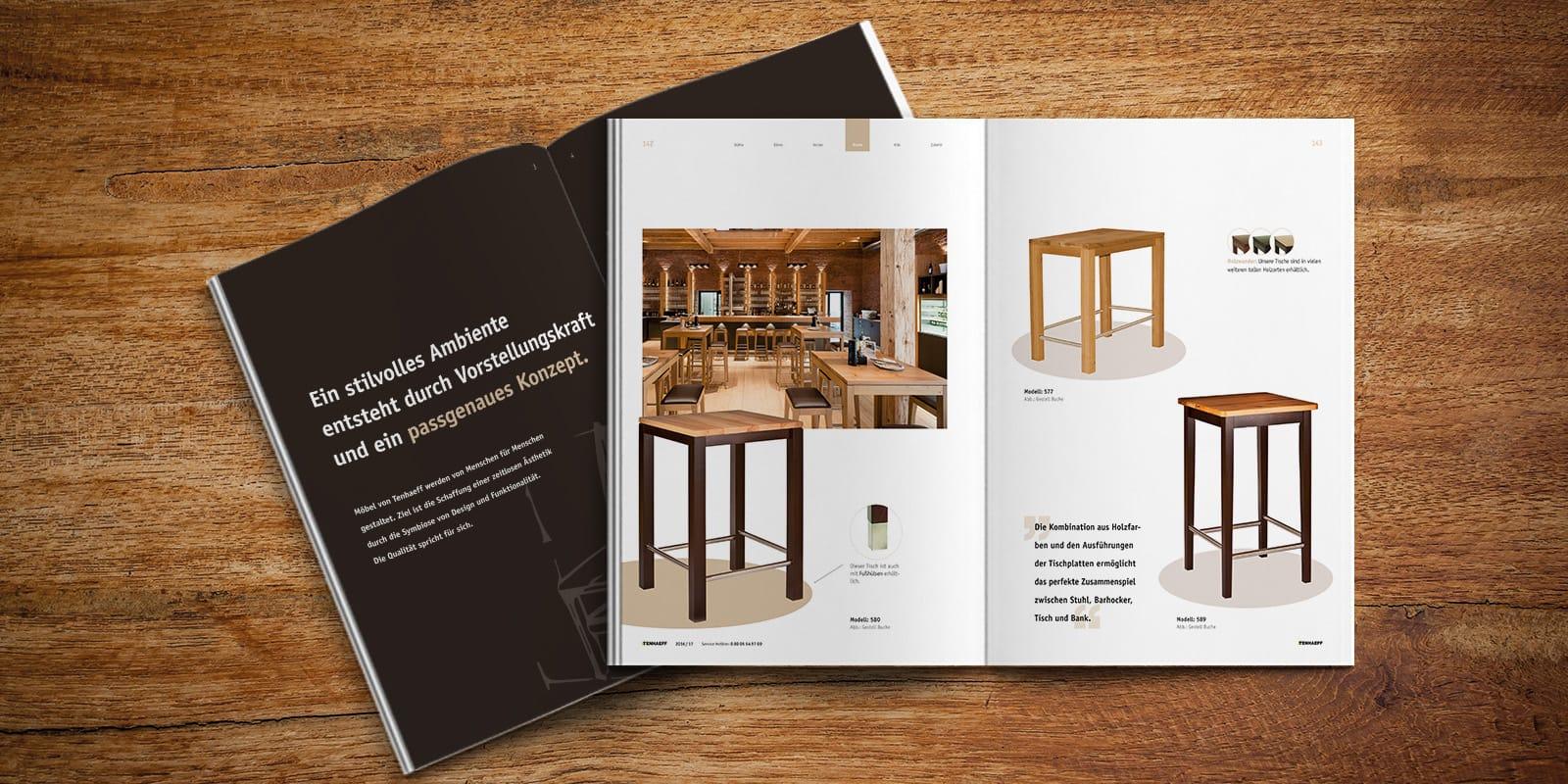 Gastronomie Ausstattung Katalog Möbel Contigo Werbeagentur
